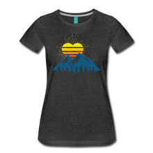 Load image into Gallery viewer, Women's Mountains Sun Heart T-Shirt - charcoal gray
