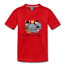 Load image into Gallery viewer, Kids' In the Zoo Crew T-Shirt - red