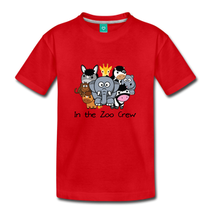 Kids' In the Zoo Crew T-Shirt - red