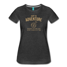Load image into Gallery viewer, Women's Enjoy the Adventure T-Shirt - charcoal gray