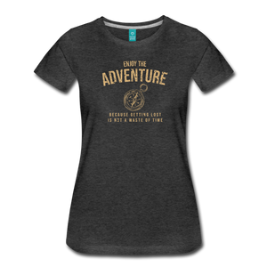 Women's Enjoy the Adventure T-Shirt - charcoal gray