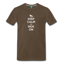 Load image into Gallery viewer, Men's Keep Calm and Ride On T-Shirt - noble brown
