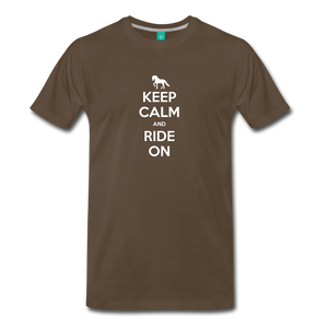 Men's Keep Calm and Ride On T-Shirt - noble brown