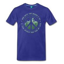 Load image into Gallery viewer, Men's Into the Woods I Go T-Shirt - royal blue