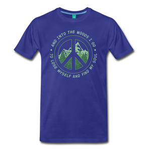 Men's Into the Woods I Go T-Shirt - royal blue
