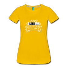 Load image into Gallery viewer, Women's Bluegrass is Living T-Shirt - sun yellow