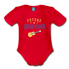 Load image into Gallery viewer, Future Guitar Player Baby Bodysuit - red