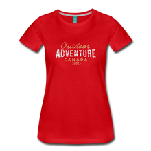 Load image into Gallery viewer, Women's Outdoor Adventure Canada T-Shirt - red