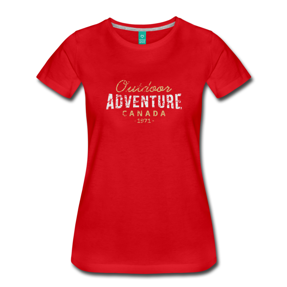 Women's Outdoor Adventure Canada T-Shirt - red