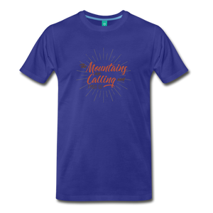 Men's Mountain Calling T-Shirt - royal blue