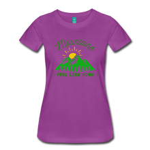 Load image into Gallery viewer, Women's Mountains Feel Like Home T-Shirt - light purple