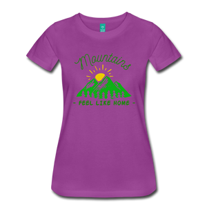 Women's Mountains Feel Like Home T-Shirt - light purple