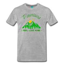 Load image into Gallery viewer, Men's Mountains Feel Like Home T-Shirt - heather gray