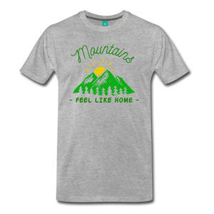 Men's Mountains Feel Like Home T-Shirt - heather gray