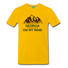 Load image into Gallery viewer, Men's Georgia on my Mind T-Shirt - sun yellow