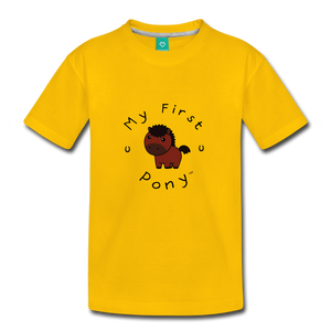 Toddler My First Pony T-Shirt (bown) - sun yellow