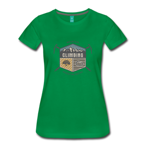 Women's Climbing T-Shirt - kelly green