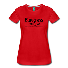 Load image into Gallery viewer, Women's Bluegrass Definition T-Shirt - red