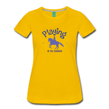 Load image into Gallery viewer, Women's Playing in the Sandbox T-Shirt - sun yellow
