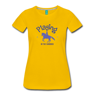 Women's Playing in the Sandbox T-Shirt - sun yellow