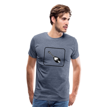 Load image into Gallery viewer, Men's Mandolin Icon T-Shirt - heather blue
