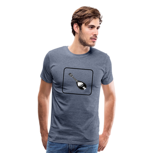 Men's Mandolin Icon T-Shirt - heather blue