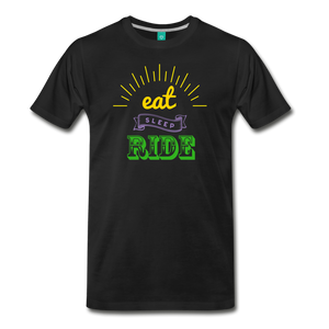 Men's Eat Sleep Ride T-Shirt - black