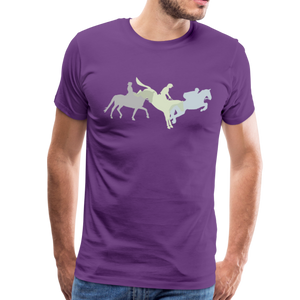 Men's Shadowed Eventing T-Shirt - purple