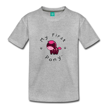 Load image into Gallery viewer, Toddler My First Pony T-Shirt (magenta) - heather gray