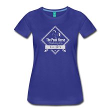 Load image into Gallery viewer, Women's The Peak Horse Diamond T-Shirt - royal blue