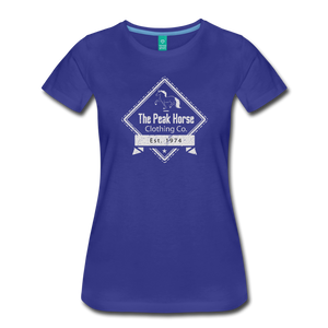 Women's The Peak Horse Diamond T-Shirt - royal blue