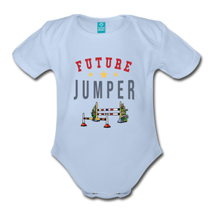 Future Jumper Baby Bodysuit - sky