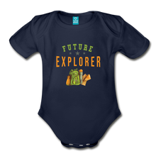 Load image into Gallery viewer, Future Explorer Baby Bodysuit - dark navy
