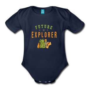 Future Explorer Baby Bodysuit - dark navy