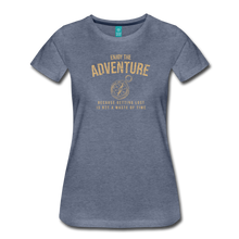 Load image into Gallery viewer, Women's Enjoy the Adventure T-Shirt - heather blue