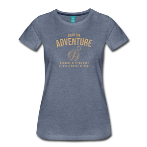 Women's Enjoy the Adventure T-Shirt - heather blue