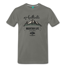 Load image into Gallery viewer, Men's Dark Authentic Mountain Life Clothing Co. T-Shirt - asphalt