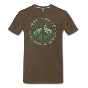 Men's Into the Woods I Go T-Shirt - noble brown