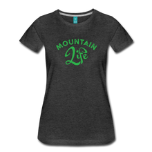 Load image into Gallery viewer, Women's Mountain Life (script) T-Shirt - charcoal gray
