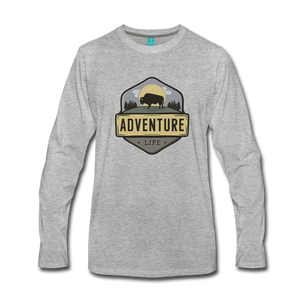 Men's Adventure Life Long Sleeve Shirt - heather gray