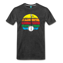Load image into Gallery viewer, Men's Banjo Rainbow T-Shirt - charcoal gray