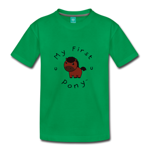 Kids' My First Pony T-Shirt (brown) - kelly green