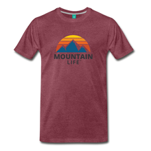 Load image into Gallery viewer, Mountain Life Shirt - heather burgundy