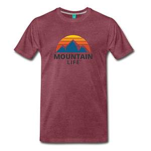 Mountain Life Shirt - heather burgundy