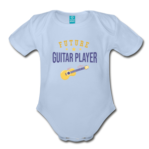 Future Guitar Player Baby Bodysuit - sky
