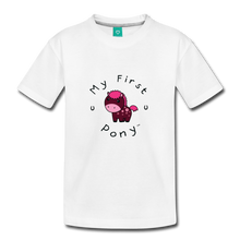 Load image into Gallery viewer, Toddler My First Pony T-Shirt (magenta) - white