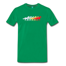 Load image into Gallery viewer, Men's Retro Rainbow Horse T-Shirt - kelly green
