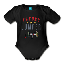 Load image into Gallery viewer, Future Jumper Baby Bodysuit - black