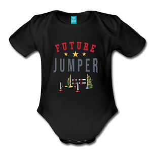 Future Jumper Baby Bodysuit - black