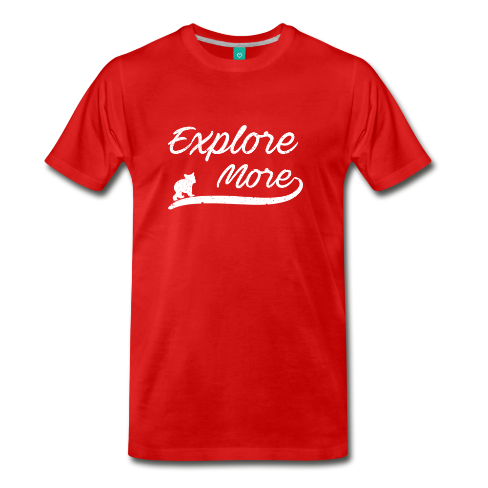 Men's Explore More T-Shirt - red
